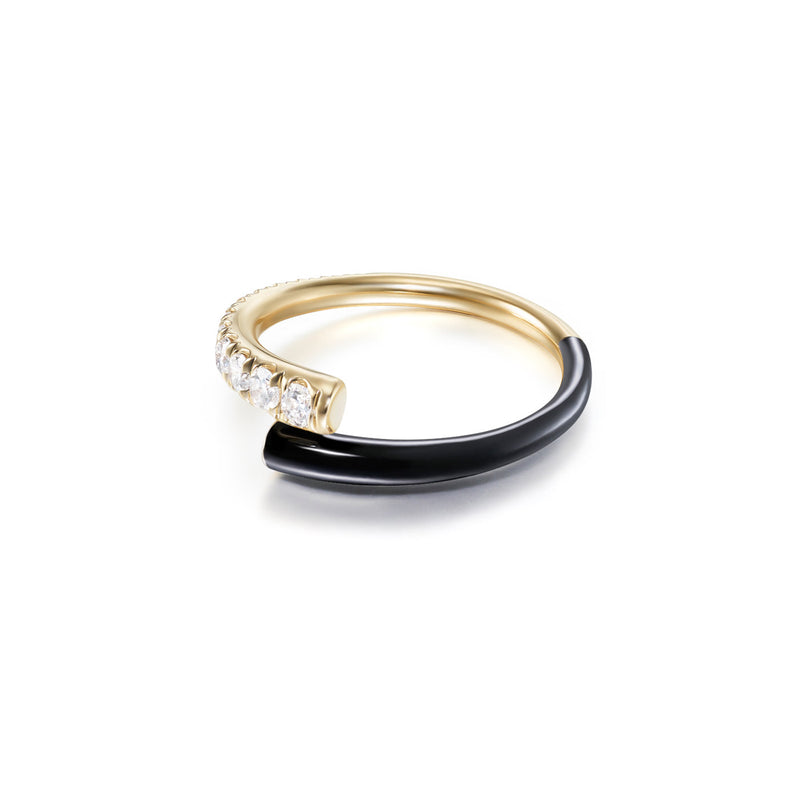 LOLA PINKY RING (Enamel: Black)