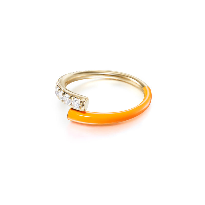 LOLA PINKY RING (Enamel: Neon Orange)