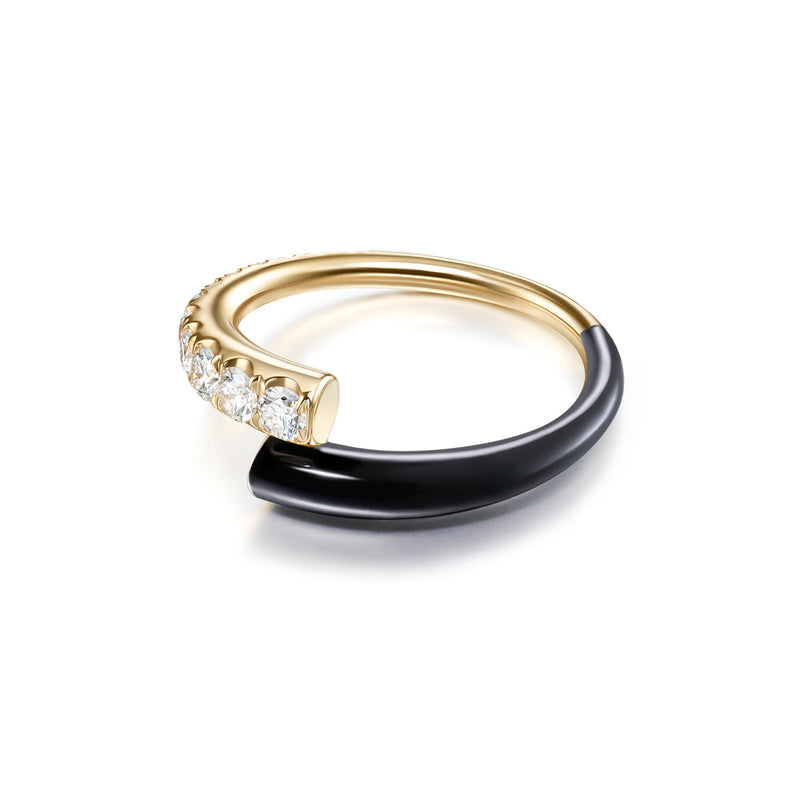 LOLA RING (Enamel: Black)