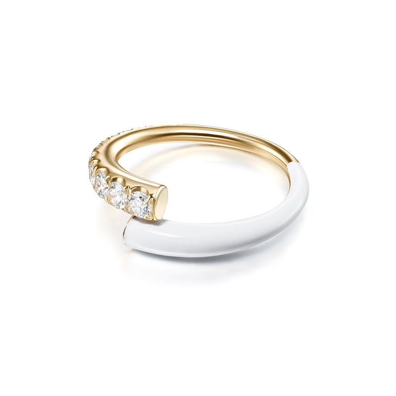 LOLA RING (Enamel: White)