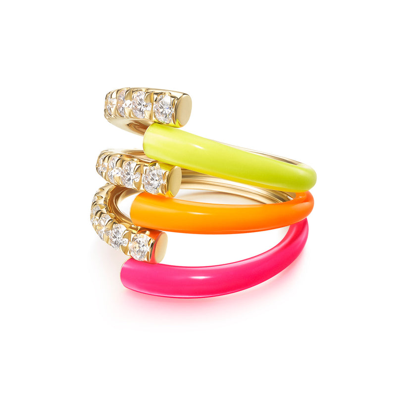 LOLA TRIPLE RING (Enamel)