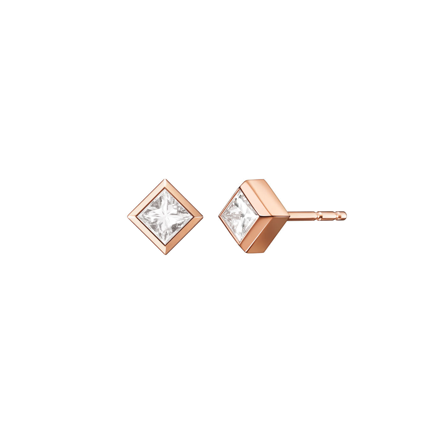 Margo Single Princess Cut Earring