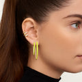CRISTINA EARRING Large (Enamel: Neon Yellow)