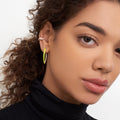 CRISTINA EARRING Medium (Enamel: Neon Yellow)