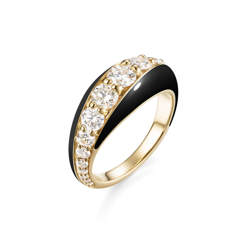 REMI RING (Enamel: Black)