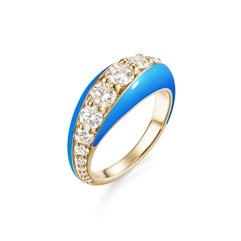 REMI RING (Enamel: Neon Blue)