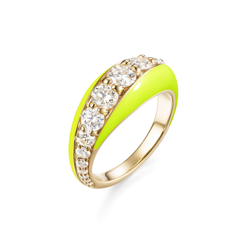 REMI RING (Enamel: Neon Yellow)