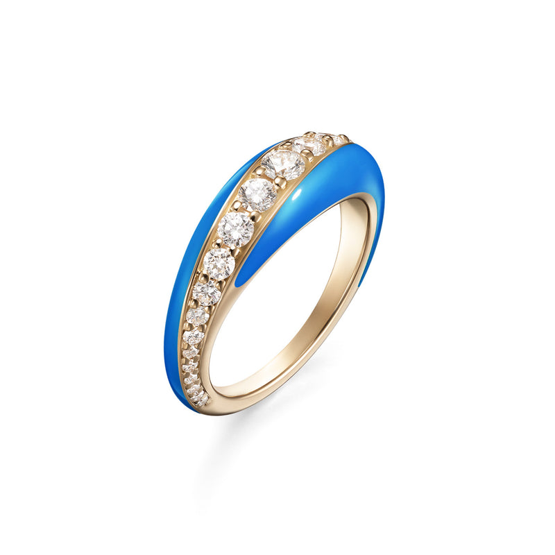 REMI RING Small (Enamel: Neon Blue)