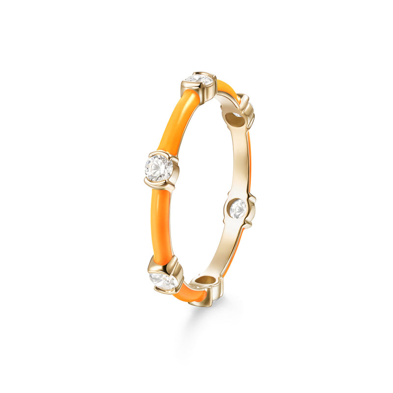 ZEA RING (Enamel: Neon Orange)