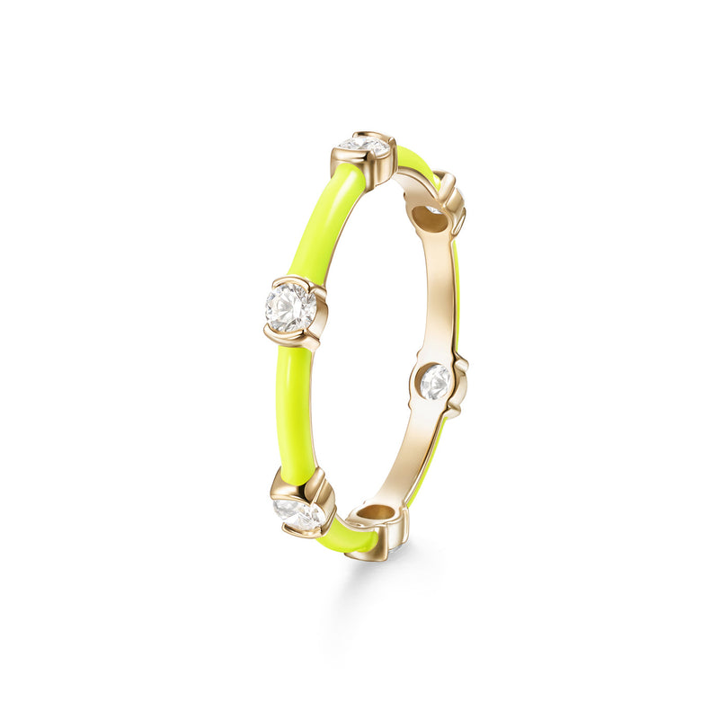 ZEA RING (Enamel: Neon Yellow)