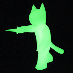 Cat with Dagger- GID unpainted SOLD OUT