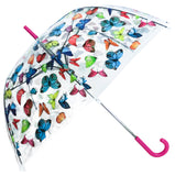 Butterflies Print Transparent Umbrella - Blooms of London - Designs inspired by nature