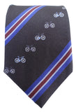 Bicycle Print Silk Tie - Blooms of London - Designs inspired by nature