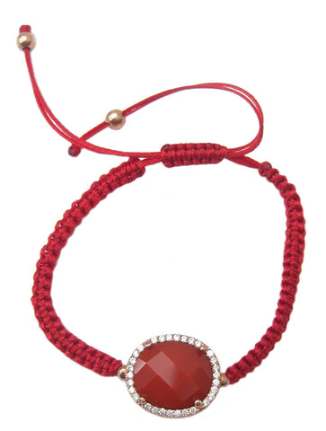 Red natural stone beaded bracelet - Blooms of London - Designs inspired by nature