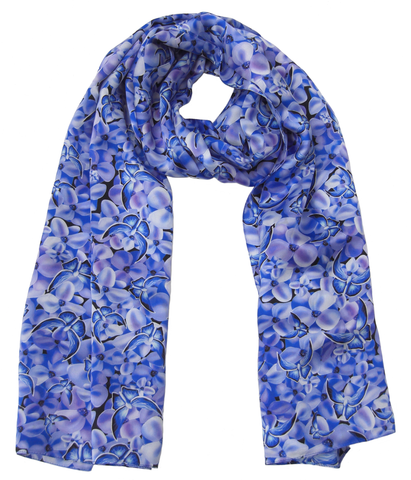 Blue Butterfly Scarf - Blooms of London - Designs inspired by nature