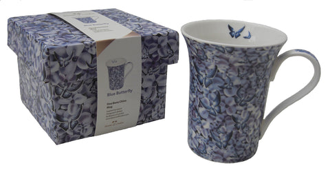 Bluebutterfly mug - Blooms of London - Designs inspired by nature