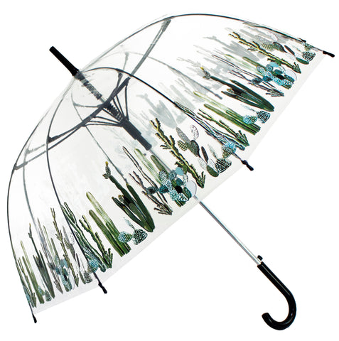 Cactus Scarse Transparent Umbrella - Blooms of London - Designs inspired by nature