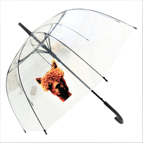 Alpaca Transparent Stick Umbrella