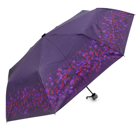 Purple Fuchsia Design Umbrella - Blooms of London - Designs inspired by nature