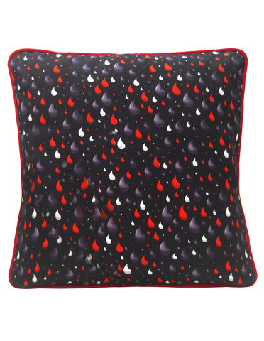 Rain Drops Design Cushion - Blooms of London - Designs inspired by nature