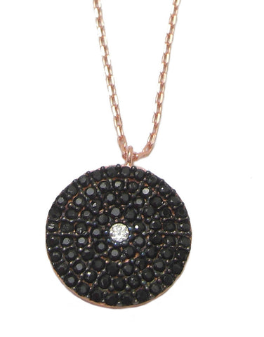 Pave disc necklace - Blooms of London - Designs inspired by nature