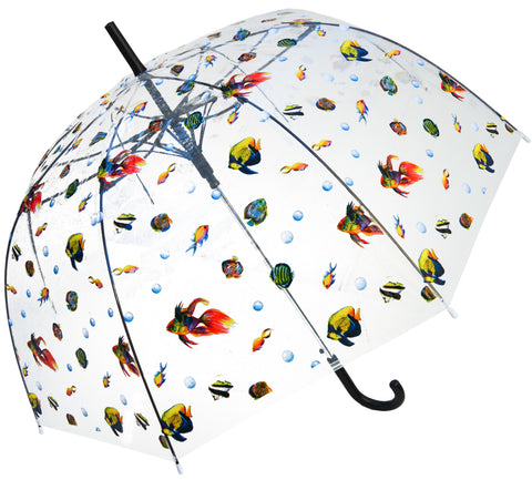 Ocean World Transparent Umbrella - Blooms of London - Designs inspired by nature