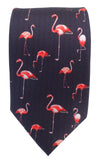 Flamingo print Tie - Blooms of London - Designs inspired by nature