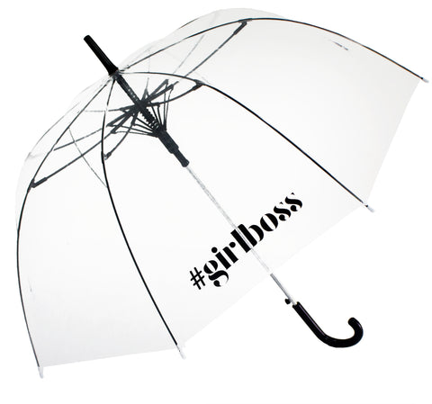 Girlboss Transparent Umbrella - Blooms of London - Designs inspired by nature