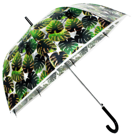 Palm Leafs Gold Transparent Umbrella - Blooms of London - Designs inspired by nature