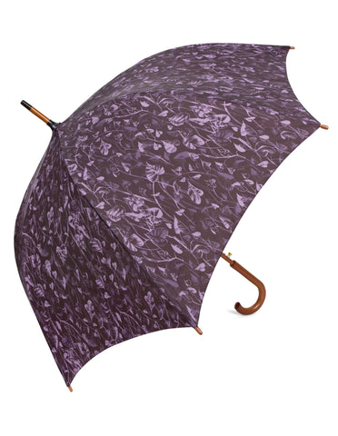 Heart Leaf Purple Umbrella - Blooms of London - Designs inspired by nature