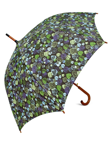 Heart Leaf Green Umbrella - Blooms of London - Designs inspired by nature