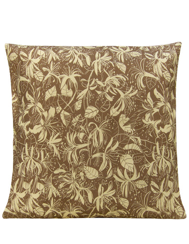 Honeysuckle Beige Cushion Cover - Blooms of London - Designs inspired by nature
