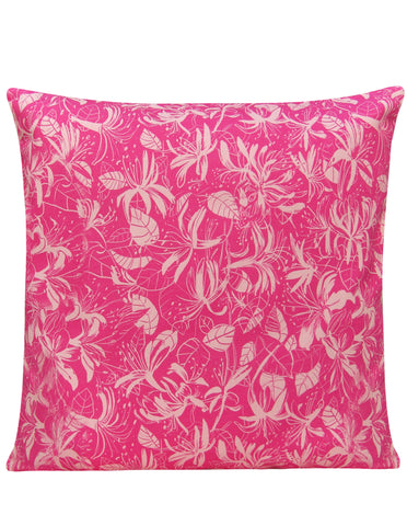 Honeysuckle Pink Design Cushion Cover - Blooms of London - Designs inspired by nature