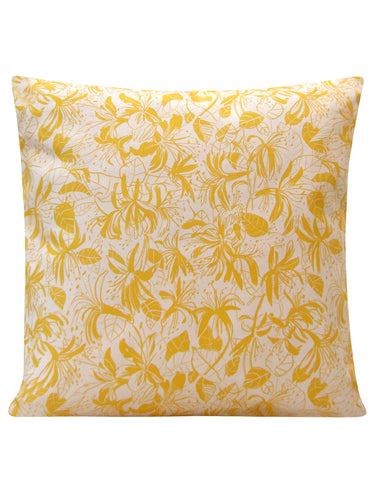 Honeysuckle Design Cushion - Blooms of London - Designs inspired by nature