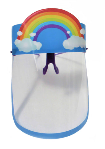 Kids Rainbow Face Shield