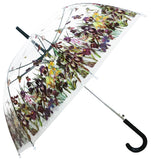Iris Field Transparent Straight Umbrella - Blooms of London - Designs inspired by nature