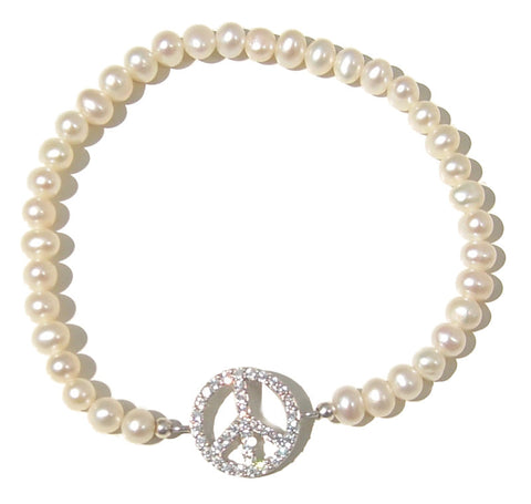 Pearl peace bracelet - Blooms of London - Designs inspired by nature