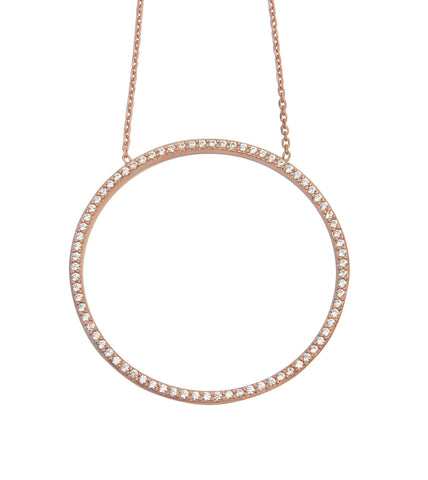 Circle of life L necklace rose gold - Blooms of London - Designs inspired by nature