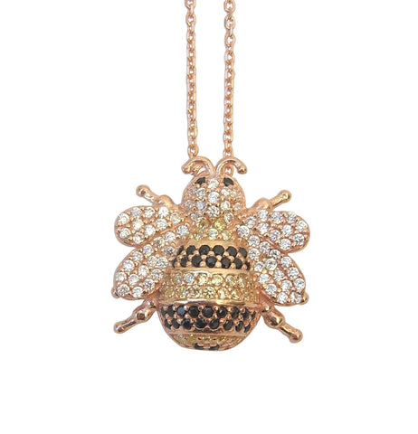 Bee necklace gold - Blooms of London - Designs inspired by nature