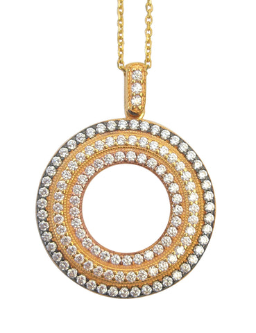 Circle gold crystal necklace - Blooms of London - Designs inspired by nature