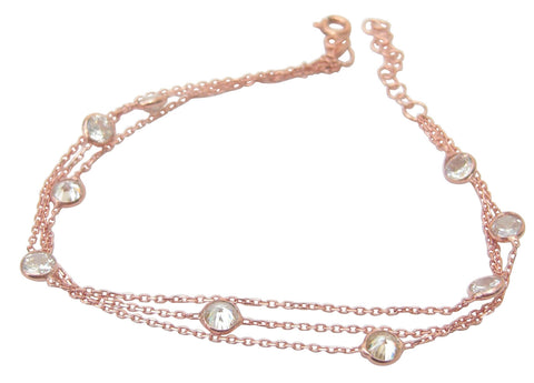 Rose gold plated tifany style jewellery set, necklace and bracelet - Blooms of London - Designs inspired by nature