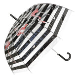Flamingo Striped Transparent Umbrella - Blooms of London - Designs inspired by nature