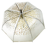 Gold Polka Design Transparent Umbrella - Blooms of London - Designs inspired by nature