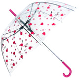 Love Hearts Print Transparent Umbrella - Blooms of London - Designs inspired by nature