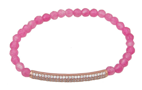 Pink beaded bracelet - Blooms of London - Designs inspired by nature