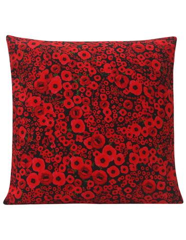 Modern Poppy Design Cushion - Blooms of London - Designs inspired by nature
