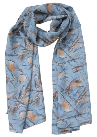 Nuthatch Scarf - Blooms of London - Designs inspired by nature