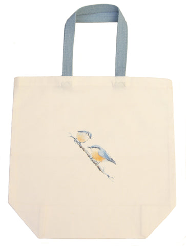 Nuthatch Shopping Bag - Blooms of London - Designs inspired by nature