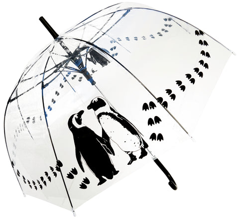 Penguins Transparent  Straight Umbrella - Blooms of London - Designs inspired by nature