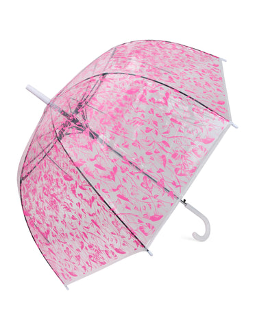 Honey Suckle Pink Transparent Umbrella - Blooms of London - Designs inspired by nature